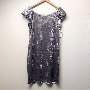 Plus // Crushed Velvet Dress